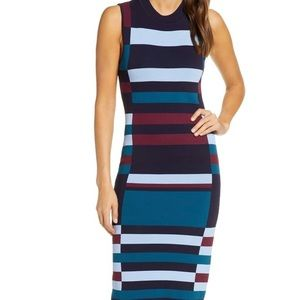 Vince Camino Color Block Sweater Dress
